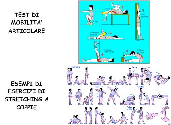 Analisi mobilità articolare ed esercizi di stretching a coppie per i ballerini di tango